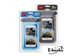 【宇田網通】E-books_N36 鎖扣式智慧手機防水保護袋(藍)